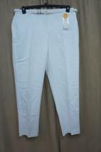 Charter Club Hose Sz 10 Strahlend Weiß Baumwolle Kern mit Gürtel - $31.90