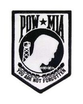 United States P O W M I A Patch White NEW!!! - $7.91