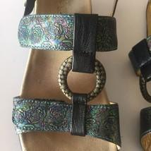 679 Strappy Jul Shoes Julie Sandals Leather Alegria Color Roses 40 Size Multi 0tTq6Ow