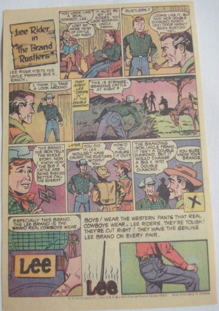 1969 Ad Lee Rider Jeans The Brand Rustlers