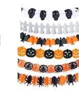 Pumpkin Spider Scary Halloween Garland Paper Haunted House Prop Decorati... - $4.49