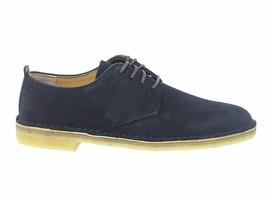 Lace-up shoes Clarks D L M MID in blue suede leather - Men's Shoes - $165.30