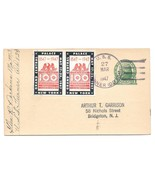1947 Naval Cancel USS Turner DD 834 CIPEX Poster Stamp Tied to UX27 Post... - $12.50