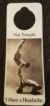 NOS Vintage 1990s Novelty Door Hanger -  Not Tonight. I HAVE A HEADACHE - $8.70