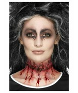 Latex Stitched Scar Prosthetic Slit Throat Special FX Ladies Halloween M... - $5.63