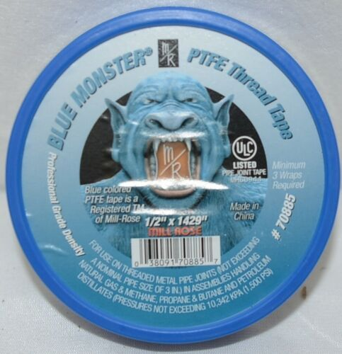 Mill Rose Blue Monster PTFE thread Sealing Tape Clean Fit