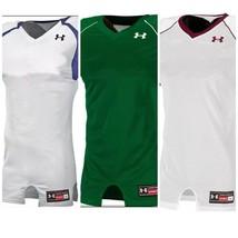 Under Armour UA Men's Adult Crusher Football Jerseys White Maroon Navy S... - $12.99