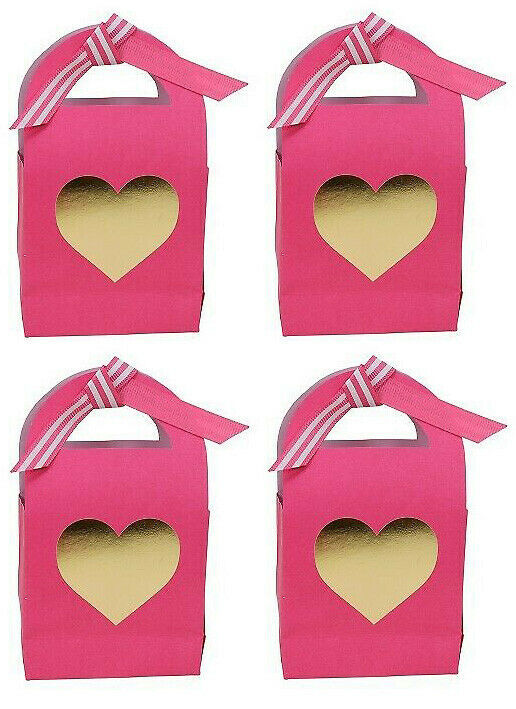 Lot of Two (2) 4 Pack of  Paper Valentine's Day Treat Gift boxes Spritz