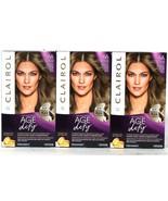 3 Boxes Clairol Age Defy Repair Plex 6A Light Ash Brown Permanent Hair Dye - $26.99