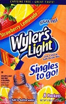 Wylers Light Singles to Go Drink Mix, Strawberry Lemonade, 8 count Pack ... - $22.09
