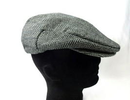 Stetson Wool Blend Men's Sz Lg Cabbie News Boy Style Hat Cap Quilted lining - $19.26