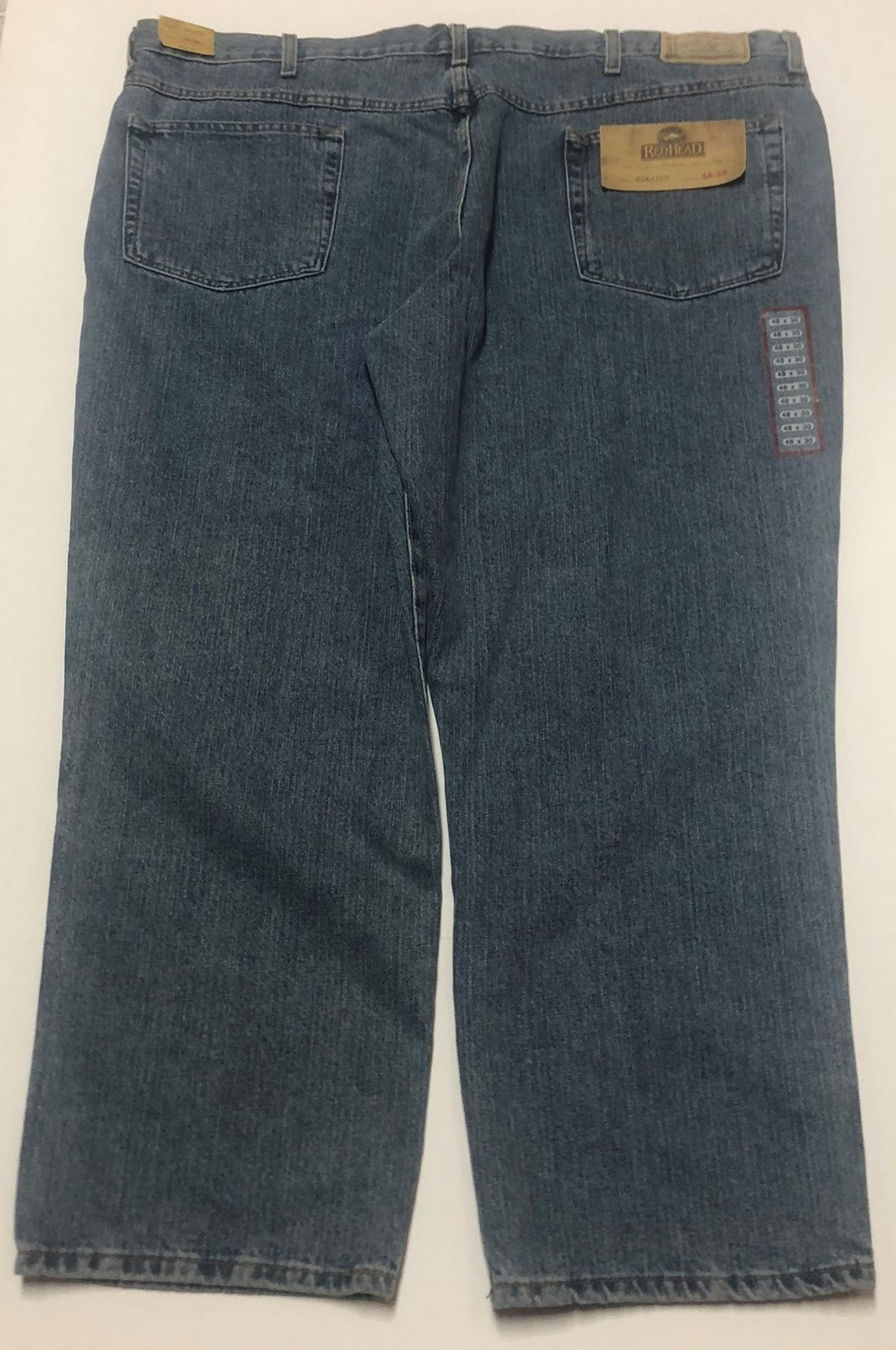 Red Head Relaxed Men's Blue Jeans Sz 48/30 Medium Stone Wash image 7