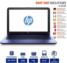 """HP Notebook 15-af165sa 15.6"""" Purple Laptop AMD A8 2.2Ghz 8GB RAM 1TB HDD... - $258.13"""
