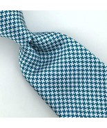 Charles Tyrwhitt Tie London Turquoise Houndstooth Woven Narrow Silk Ties... - $89.09