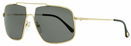 Tom Ford Pilot Sunglasses TF585 Aiden-02 28A Gold/Black 60mm FT0585 - $470.25