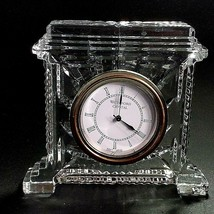 1 (One) Waterford Giftware Grecian Cut Lead Crystal Mantle Clock- Signed - $72.19