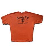 MLB San Francisco Giants Orange Short Sleeve Tee Shirt  3 XL Official NWT - $15.99