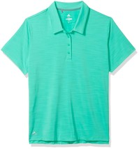NEW adidas Golf Women's Ultimate 365 Short Sleeve Polo, Hi-Res Green, Me... - $31.97