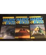 The Hardy Boys 3 Book Lot #11 Hurricane Joe #13 Mummy's Curse #19 Foul P... - $10.89