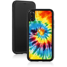 For Apple iPhone X XS Max XR Shockproof Hard Case Cover 394 Tie Dye Spiral - £11.41 GBP