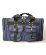 Medium NAVY DUFFELBAG  DUFFEL Gym  BAG Bags New 22 Inch Carry On Sports ... - $16.49