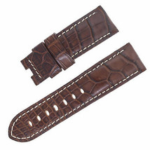 Panerai 24 - 22 mm Brown Alligator Leather Men's Watch Band - $249.00