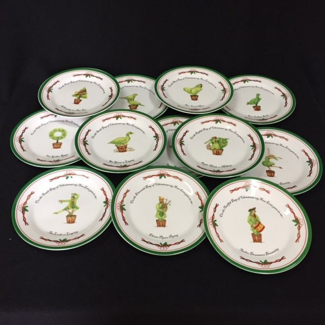 the twelve days of christmas 12 dessert plates 75