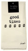 Good Times Cloth Napkins White Lot 6 18x18 Cotton Lisa Weedn Slant Colle... - $17.99