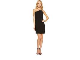 Jessica Simpson Women's Black Embellished Faux Wrap Cocktail Dress 6 - $29.06