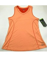 NEW REI Women's Sport Tank Top Size L Large Orange Dry Fit Reflective Sl... - $15.19