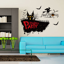 Removable Horror Witch Series Pattern Wall Sticker for Living Room Bedro... - $8.93