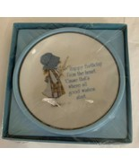 VINTAGE HOLLY HOBBIE Happy Birthday Plate New Sealed 1976 American Greet... - $14.84
