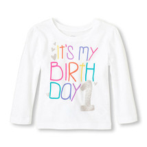 NEW NWT Girls 1st First Birthday Long Sleeve Shirt 9-12 or 12-18 Months ... - $6.99