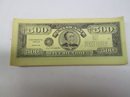 Vintage 1960 Milton Bradley The Game Of Life $500 bill money replacement part - $4.90