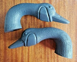 Vintage Canadian Goose Plastic Goose Decoy Heads Unpainted Lot 2 - $18.99