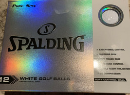New Spalding Pure Spin White Golf Balls 12pk Soft Control Ball Superior ... - $18.42