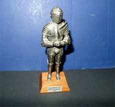 Henry VIII Foot Combat Armor knight c1520 metal figure - $12.00