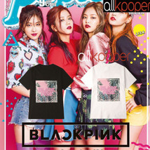 KPOP BLACKPINK T-shirt JISOO JENNIE Rose LISA Concert Tshirt 2017 Casual... - $12.07