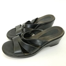 Dansko Sandals Black 39 (8.5-9) Womens Open Toed Shoes Heel Slides Strappy - $21.24