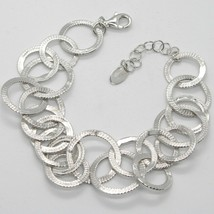 Silver 925 Bracelet with Circles Worked by Mary Jane Ielpo , Made in Italy - $206.05