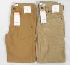 Lot of 2 Gymboree Classic Fit Brown Carpenter & Corduroy Pants New NWT 10 - $30.84