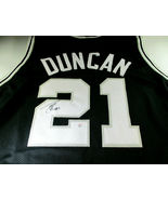 TIM DUNCAN / 15 X NBA ALL-STAR / AUTOGRAPHED SAN ANTONIO SPURS CUSTOM JE... - $168.25