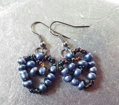 """Twisted Wired"" Dangle Drop /Blue/Earrings/Any Occasion! - $21.00"