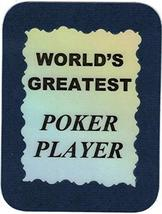 "World's Greatest Poker Player Texas Hold'em Omaha Stud 3"" x 4"" Love Note Sports  - $2.69"