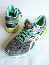 ASICS GT 1000 Duomax T4K8N Running Shoes Gray-Teal-Yellow Womens Size 7.5 - $26.89