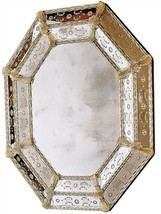 Wall Mirror DAVID MICHAEL REFLECTIONS Octagonal Sandstone - $7,329.00