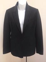 Elie Tahari 8 Blazer Black Pinstripe One Button Stretch Suit Jacket - $31.33