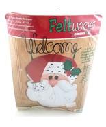 Dimensions Felt Works Santa Buddy Welcome Sign No 8111 Felt Christmas Craft - £17.93 GBP