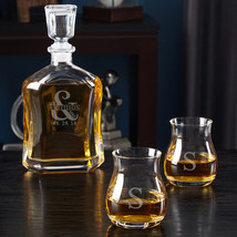 Love & Marriage Decanter with Glencairn Crystal Whiskey Glasses - $79.95
