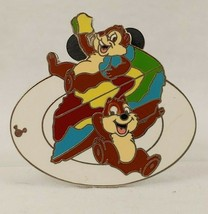 Disney Pin 43372 WDW Cast Lanyard 4 Chip & Dale with Food Tie-Dyed Chees... - $14.80